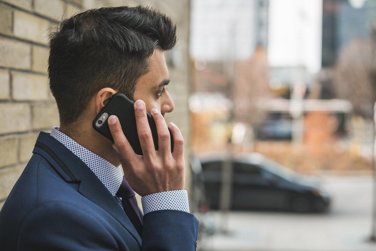 Sales Representative on phone